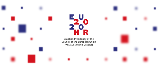 Logo of the parliamentary dimension of the Croatian Presidency of the Council of the EU